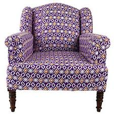 Ikat Armchair Chairs Purple Polyvore