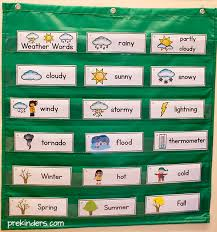words cards weather picture word cards prekinders