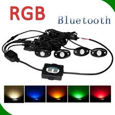 china deck light rock light12v rgb 5 colors blue green yellow