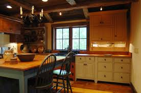 Primitive Kitchen Cabinets Central Kentucky Log Cabin Primitive Kitchen Eclectic Kitchen