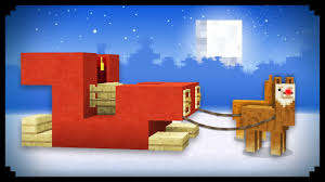 minecraft how to make santa u0027s sleigh youtube