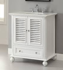 Bathroom Vanities White by Adelina 30 Inch Cottage White Finish Bathroom Vanity White Marble