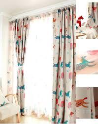 Curtains For Baby Boy Bedroom Nursery Curtains Boy Animal Beige Blackout Curtains