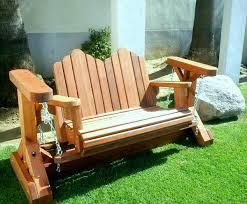 Swing Bench Plans Two Seat Adirondack Swing Wood Adirondack Gliders