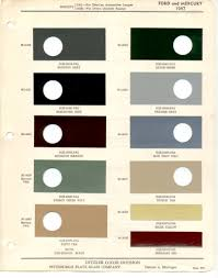 paint chips 1947 ford mercury