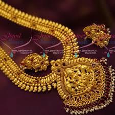 necklace online store images Nl7169 temple gajalakshmi god design mango mala long necklace JPG