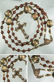 20 decade rosary new five decade rosary in bronze porcelain and