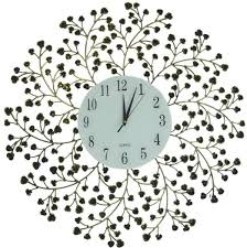 Decorative Metal Wall Clocks Buy Lulu Decor Daisy Lines Decorative Metal Wall Clock Size