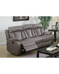 Milan Leather Sofa by Amazing Deal On Milan Bakersfield Reclining Gray Leather Air Sofa