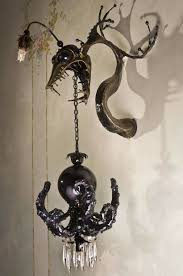 Octopus Ceiling Light by Adam Wallacavage U0027s Octopus Inspired Chandeliers