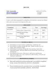 Resume Format Freshers Ccna Resume Sample Starengineering