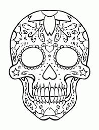 printable coloring pages sugar skulls candy skull coloring pages sugar skull coloring pages 1017