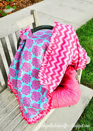 Free Carseat Canopy Pattern by Funky Polkadot Giraffe Car Seat Canopy Tutorial With A Ruffle Edge