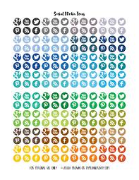 social media icons free planner printable my planner envy