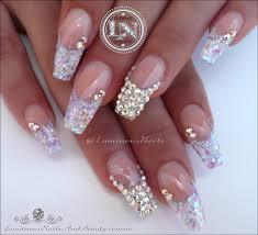 luminous nails candy coated nails with bling acrylic nails