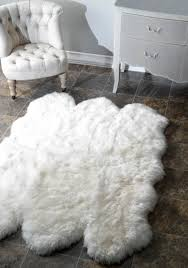 Imitation Sheepskin Rugs Decor Fill Your Home With Chic Fur Rug For Floor Decoration Ideas