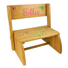 Wooden Step Stool Plans Free by Personalized Kids Step Stools Simplyuniquebabygifts Com Free