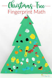 fingerprint christmas tree math a fun way to learn to count