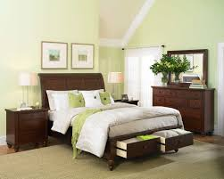Simple Bed Designs With Storage Aspenhome Cambridge Sleigh Storage Bedroom Set In Brown Cherry