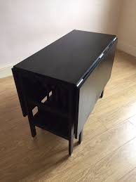 drop leaf table and folding chairs ikea black drop leaf dining table dining room ideas
