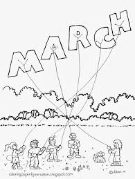 coloring pages for kids by mr adron month of march free