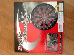 12 inch magnetic dartboard game includes 6 darts child friendly