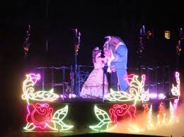 beauty and the beast fantasmic light show los angeles usa