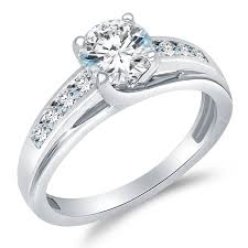 cz engagement ring solid 925 sterling silver solitaire cz cubic
