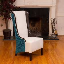 furniture unique tall upholstered wingback dining chair in