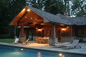 pool house designs with outdoor kitchen design ideas img hahnow