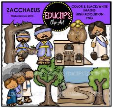bible stories u2013 zacchaeus clip art bundle color and b u0026w