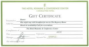 hotel gift certificates hotel gift certificate template free regarding hotel gift