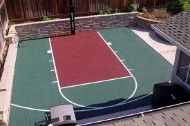 full court basketball court backyard