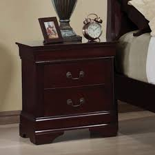 Cherry Wood Nightstands Shop Coaster Fine Furniture Louis Philippe Cherry Nightstand At