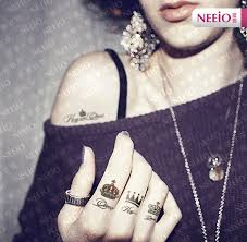 tattoo on the finger price min order is 8 mix order free shipping diy small crown finger