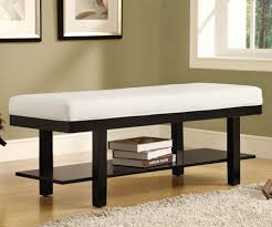 furniture leather upholstered bench with small entryway bench