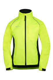 hi vis cycling jacket womens reflective jackets mountain warehouse us