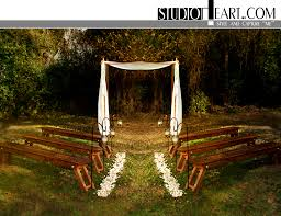 Ideas For Backyard Weddings by Benched Seating No Arbor Pedals Lanterns Wedding Pinterest