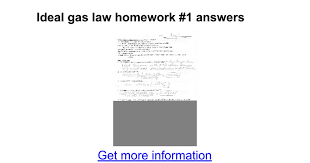ideal gas law homework 1 answers google docs