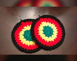 reggae earrings rasta earrings etsy