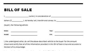 bill of sale template car car bill of sale template