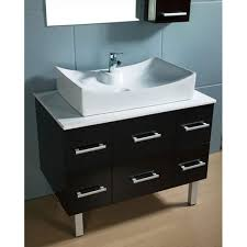 Single Vanity Vessel Sink Bathroom Awesome Design Element Paris Contemporary Vanity With