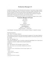cover letter production manager resume samples print production