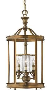 pendant lantern light fixtures indoor hinkley lighting h4184 3 light indoor lantern pendant from the