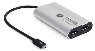 amazon com plugable thunderbolt 3 dual displayport output display