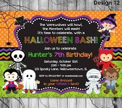kids halloween birthday invitations u2013 festival collections