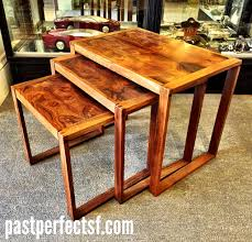 vintage 70s danish rosewood nesting tables sold past perfect