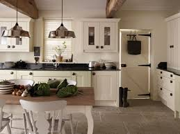 rustic kitchen table and two tone wooden island with contemporary