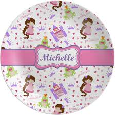 personalized melamine platter princess print melamine plate personalized potty concepts