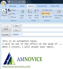 how to set up an out of office reply with microsoft outlook